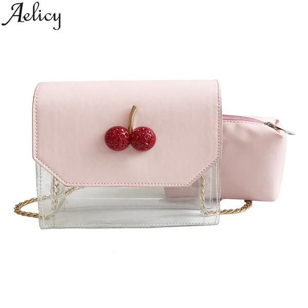 Aelicy 2019 Fashion Women Hit color Transparent Crossbody Shoulder Bag Ladies Tote Handbag Phone Bag And Wallet Messenger Bags