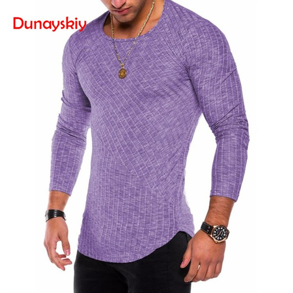 Plus Size Slim Fit Sweater Men 2018 Spring Autumn Thin O-Neck Knitted Pullover Men Casual Solid Mens Sweaters Pull Homme