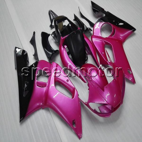 Custom + Screws + article Carcasa de motocicleta ABS de color rosa para Yamaha YZF-R6 1998 1999 2000 2001 2002 Body Kit paneles de motor