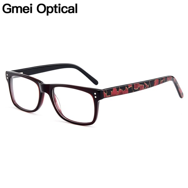 Gmei Оптические Классические Квадратные Ацетатные Полные Обода Оптические Очки Кадры Женщины Близорукость Очки Пресбиопии С Пружинными Петлями A722