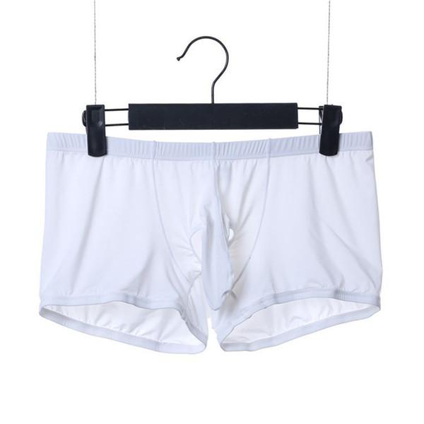 Neue Silk Boxer Männer Unterwäsche Marke 2019 Mode Sexy Männliche Unterhose Weiche Atmungsaktive Low Rise Boxer Shorts