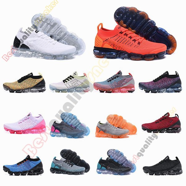 2019 Air 2.0 Fly 3.0 Knitting Running Shoes For Men Women Triple Black White Orange Utility Sports Sneakers Athletic Designer Shoes Size 12