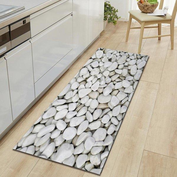 New Cobblestone Print Bathroom Mat Multi Colors Non-Slip Bath Mats Hallway Floor Carpet Doormat Long Home Toilet Rug