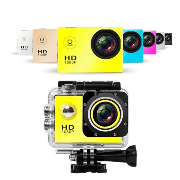 best selling Diving Camera Video Recorder HD 1080p 30FPS 2.0Inch Screen Helmet 30m Waterproof Sports DV Micro Camera Mini Camcorder For Riding