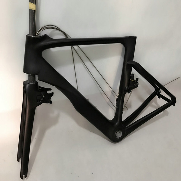 Camouflage Farbe Fahrrad Carbon Rahmenset + Lenker + V Bremsen + Vorbau OEM Logo Fahrrad Carbon Rahmen 49/52/54/56 / 58cm in Taiwan Rahmen