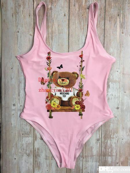 Kleiner Bär Mode Bademode Bikini für Frauen Brief Marke Badeanzug Body Sexy Badeanzug
