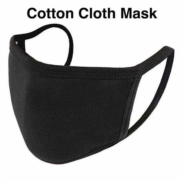 Em branco Máscara de algodão (preto)