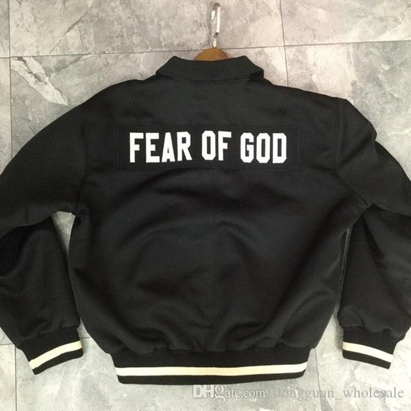 Fear Of God Fifth Collection Logo Embroidery Women Men Bomber Jackets Coat Hiphop Streetwear FOG Men Jacket