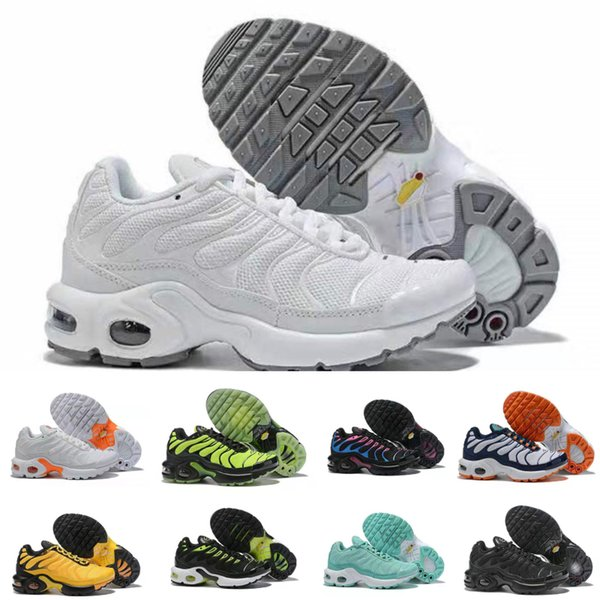 Hot 2019 TN Childrens Athletic Shoes Kids Boys Basketball Shoes Child Huarache Legend Blue Sneakers Size 28 35 Best Kids Tennis Shoes Boys Wide