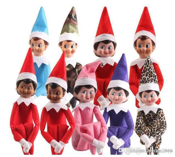 top popular 2020 10 Styles Christmas Elf Doll Plush toys Elves Santa dolls Clothes on the shelf For Christmas Gift Fast Shipping 2020