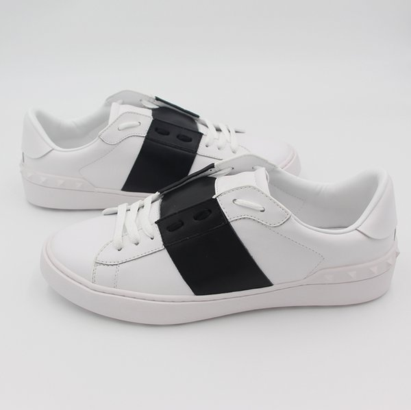 Top Quality Casual Shoes Women New White Flaty Shoes Fashion Sneakers Leather Sport Classic Flats 2019 Big Size