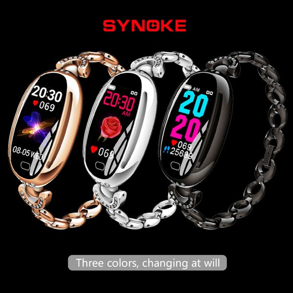 SYNOKE Women Smart watches Watch Women Luxury 2019 Waterproof Sport For IOS Android phone Smartwatch Heart Rate Monitor Blood