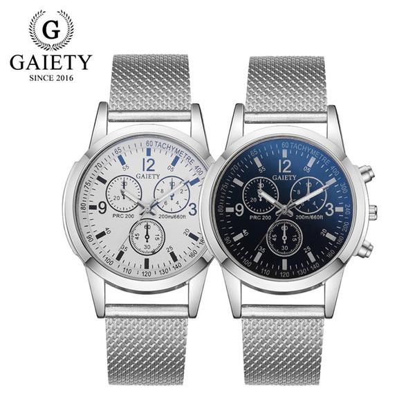 Montres de luxe pour hommes Analog Quartz - Bracelet en silicone - Bracelet à cadran large # 6