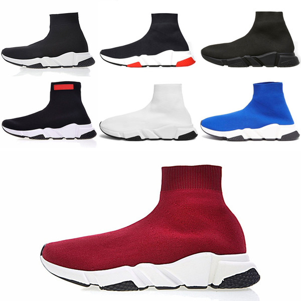 Designer Sneakers Speed Trainer Black Red Gypsophila Triple Black Fashion Flat Sock Boots Casual Shoes Speed Trainer Runner With Dust Bag ou
