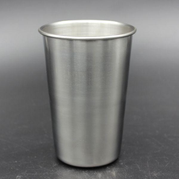 best selling 16oz Stainless Steel Pint Cup Metal Beer Mug Unbreakable BPA Free Eco-friendly For Drinking Drinkware Tool RRA1962