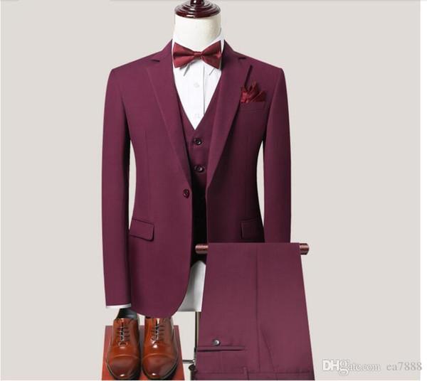 Ternos New Arrivals Dois botões Royal Blue noivo smoking pico lapela Groomsmen melhor homem dos homens do casamento Ternos (jaqueta + calça + Vest)