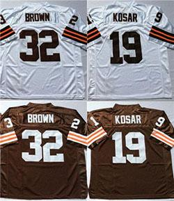 cheaper 39c36 a8ece 2019 Brown Throwback Retro Cleveland #32 Jim Brown #19 Bernie Kosar Mens  Stitched Football Jersey From Guo3456, $28.95 | DHgate.Com