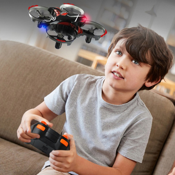 원격 제어 항공기 4 축 유도 항공기는 버튼 하나로 원격 제어 무인 항공기 어린이 장난감 이륙 대화 형 유도 적외선