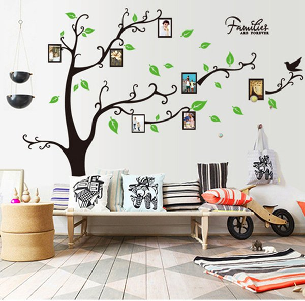 3D DIY Photo Tree PVC Wall Decals Adhesive Wall Stickers Mural Art Home Decor new year christmas decorations for home 2019