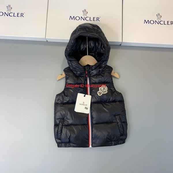 Çocuk aşağı yelek Kış çocuklar giysi tasarımcısı Erkek ve kız aşağı kapüşonlu aşağı kabarık ördek aşağı spor ceketle ...
