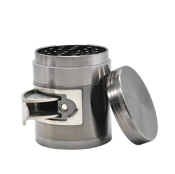 Best price new products Side Open Grinder,zinc alloy smoke grinder is portable with side window with free shipping