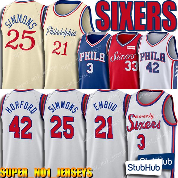 top popular 19 20 Joel 21 Embiid Jersey Philadelphia Jersey 76ers Ben 25 Simmons Jerseys Allen 3 Iverson Jersey Al 42 Horford Jerseys Tobias 33 Harris 2019