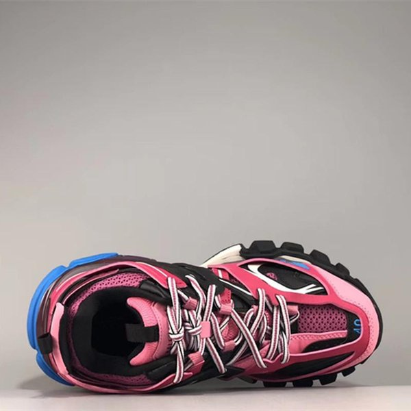Triple S 3.0 New color pink blue white Tess S men women Clunky Sneaker Casual Shoes Designer Shoe With Dust Bag B45