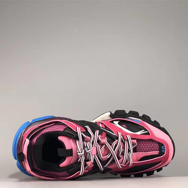 Triple de 3,0 Nouvelle couleur rose bleu blanc hommes Tess S femmes Maladroit Sneaker Chaussures Casual Designer Chaussures avec sac à poussière B45