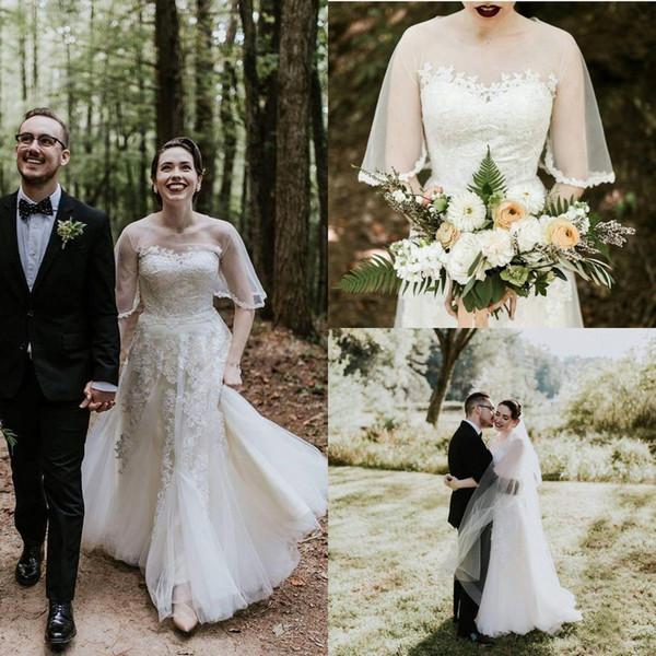 Discount 2020 Bohomain Vintage A Line Wedding Dresses Sweetheart