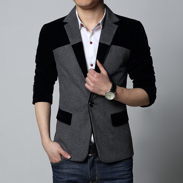 autumn The New Splicing christmas dress blazer for men and jackets masculino slim fit blazers 6XL homens