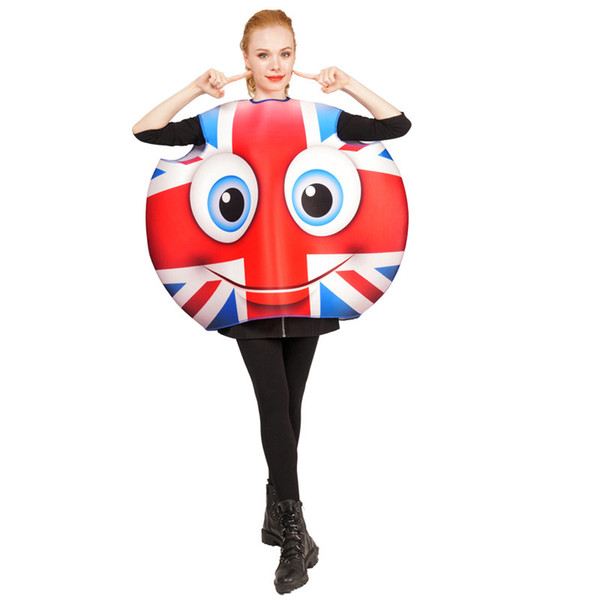 Happy Face Emoji Dress Ladies Halloween Party Fancy Dress Costume Outfit