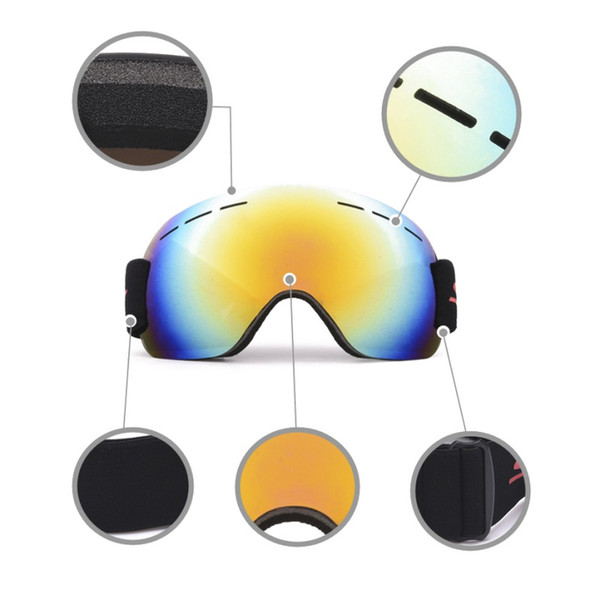 Frameless Ski Snowboard Goggles Windproof Anti Fog UV Protection With Adjustable Elastic Head Band Motorcycle Glasses Road Racin