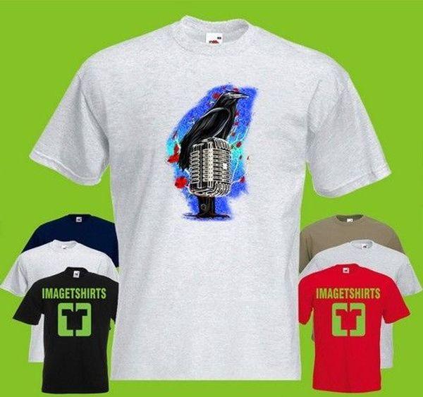 Crow Festival Lou Animal Cat Bird Mic Red Art Graphics T Shirt Tee Shirt Print jacket croatia leather Trump sweat sporter