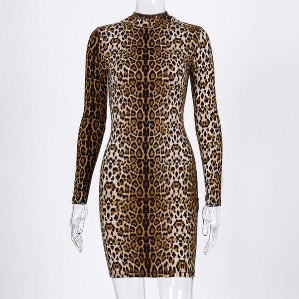 leopard short dress D