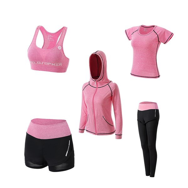 Tuta da yoga per la primavera e l'autunno 2019 che esegue abiti ad asciugatura rapida a maniche lunghe abbigliamento sportivo e fitness professionale