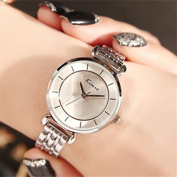 Silver Stainless Steel Wrist Watches Women Famous Brand Watch Luxury Brand Dress Bracelet Quartz Watch New Montre Femme Wholesale Good Gift