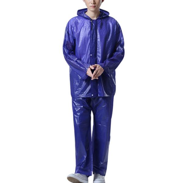Manteau de pluie manteau de pluie hommes pluie veste pantalon vélo vélo extérieur moto imperméable costume pour la pêche manteaux pantalon # 17024