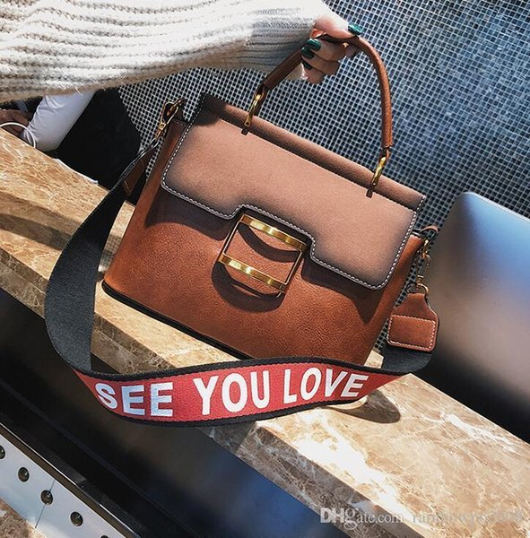 Factory wholesale brand handbag handbag new retro large matte leather handbag bulk winter commuter retro metal buckle laptop bag