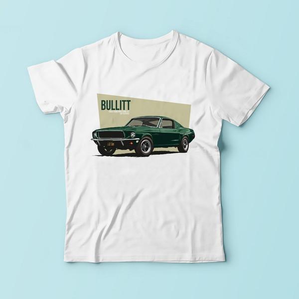 Bullit T Shirt Men 2019 New White Casual Tshirt Homme Plus Size Tee Shirt Sublimation Print T-shirt