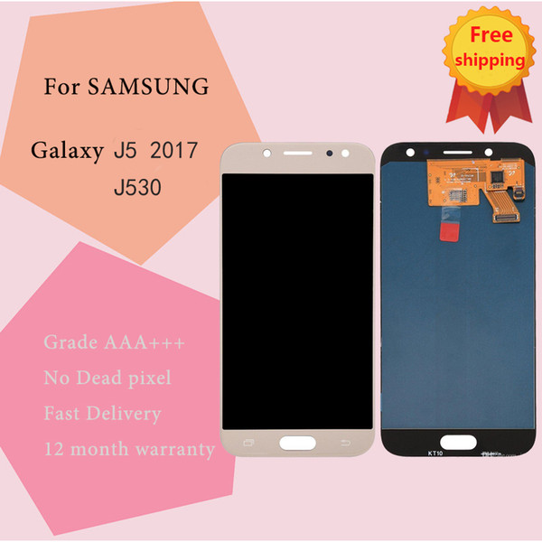 Super AMOLED LCD Display 100% Tested Working Touch Screen Assembly For Samsung Galaxy J5 2017 J530 Lcds display repair tool free shipping