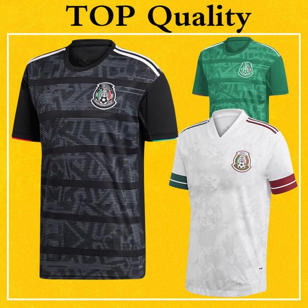 México Jersey 2020 Longe branco Soccer Jersey 2019 Início Preto Football Shirt Uniforme 19 20 Selecção Mais 10pcs frete grátis DHL