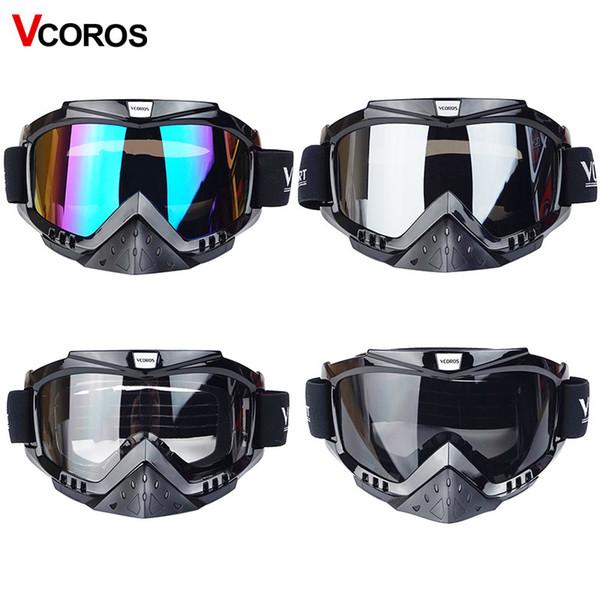 Nouvelle marque Vcoros Gafas moto lunettes casque lunettes moto casques lunettes masque lunettes de moto cross coupe-vent lunettes