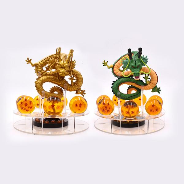 15cm Dragon Ball Z Eylem Shenron Dragonball Z Seti Esferas Del Dragon'un 7adet 3.5cm Toplar Raf Figuras Y191105 Figures Figures