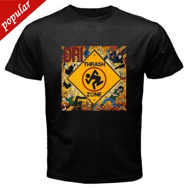 Летний стиль моды новый D. R. I. DRI грязные гнилые имбецилы мусорная зона мужская черная футболка размер S-3XL