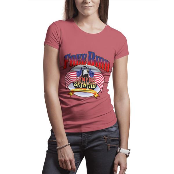 Lynyrd Skynyrd free bird rock band white t shirt,shirts,t shirts,tee shirts shirt design cool t make a custom casual t shirt
