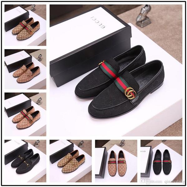 Новый! Кожаная мода мужская обувь черный большой размер 6.5-10.5 острым носом формальные туфли мужчины ремень с пряжкой нескользящей роскошных брендов