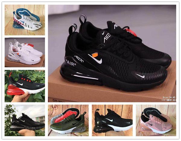 2020AirMax270 Parra Punch Men Women Running Shoes Triple White University Olive Volt Habanero 27C Flair 270s Sneakers 36 45 Dress Shoes Wedge Shoes