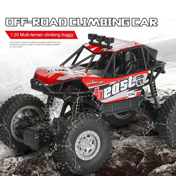 Yeni RC Araba Elektrikli Offroad Uzaktan Kumanda Araba 1:20 Kablosuz Şarj Dört tekerlekten çekiş Tırmanma Araba Oyuncaklar Çocuklar için TSLM1