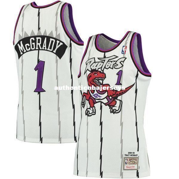 TRACY McGRADY # 1 Blanc Cousu de haute qualité Vintage Top JERSEY Mens Vest Taille XS-6XL cousu maillots de basketball Ncaa
