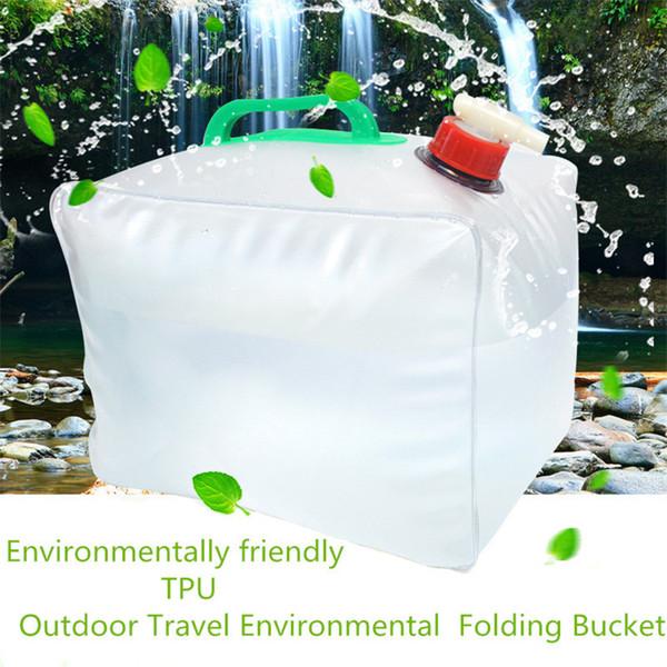 10L / 20L Taşınabilir su saklama kabı Katlanabilir Su Taşıma Çantası Acil Çanta Kamp survival # 2y15 için
